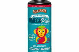 OMEGA PALS ESSENTIAL NUTRITION FOR KIDS DIETARY SUPPLEMENT, STRAW-NANA