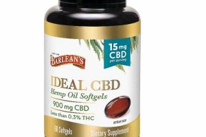 IDEAL CBD HEMP OIL DIETARY SUPPLEMENT SOFTGELS