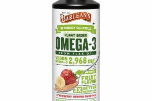 PLANT BASED OMEGA-3 FROM FLAX OIL DIETARY SUPPLEMENT STRAWBERRY BANANA SMOOTHIE