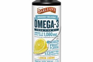 LEMON CREME OMEGA-3 EPA / DHA 1,080MG FROM FISH OIL DIETARY SUPPLEMENT