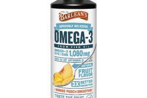 SERIOUSLY DELICIOUS OMEGA-3 FROM FISH OIL DIETARY SUPPLEMENT, MANGO PEACH SMOOTHIE