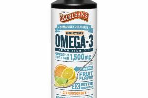 HIGH POTENCY OMEGA-3 FROM FISH OIL DIETARY SUPPLEMENT, CITRUS SORBET