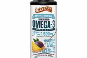 HIGH POTENCY OMEGA-3 EPA / DHA 1,500 MG FROM FISH OIL DIETARY SUPPLEMENT, PASSION PINEAPPLE SMOOTHIE