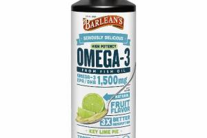 HIGH POTENCY OMEGA-3 EPA / DHA 1,500 MG FROM FISH OIL DIETARY SUPPLEMENT, KEY LIME PIE