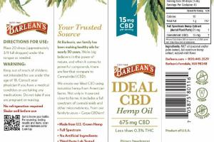 IDEAL CBD 675 MG CBD HEMP OIL DIETARY SUPPLEMENT, NATURAL MINT