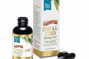 IDEAL 675 MG CBD HEMP OIL DIETARY SUPPLEMENT, NATURAL MINT