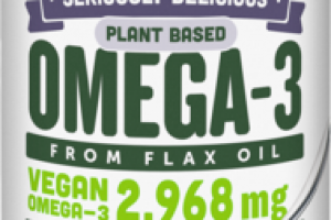 BLACKBERRY SMOOTHIE SERIOUSLY DELICIOUS PLANT BASED OMEGA-3 FROM FLAX OIL DIETARY SUPPLEMENT