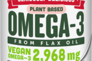 STRAWBERRY BANANA SMOOTHIE PLANT BASED OMEGA-3 FROM FLAX OIL DIETARY SUPPLEMENT