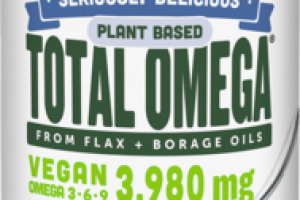 NATURAL FRUIT FLAVOR VEGAN OMEGA 3, 6, 9 3,980 MG DIETARY SUPPLEMENT, POMEGRANATE BLUEBERRY SMOOTHIE