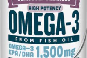 HIGH POTENCY OMEGA-3 NATURAL FRUIT FLAVOR FROM FISH OIL DIETARY SUPPLEMENT