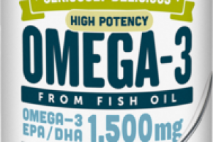 HIGH POTENCY OMEGA-3 FROM FISH OIL EPA / DHA 1,500 MG DIETARY SUPPLEMENT, CITRUS SORBET