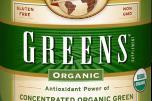ORGANIC GREENS POWDER FORMULA SUPPLEMENT