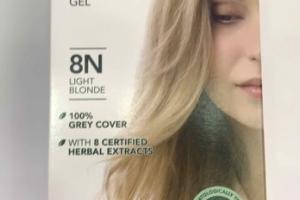 PERMANENT HAIR COLOR GEL, LIGHT BLONDE 8N