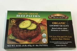 ORGANIC GROUND BEEF PATTIES