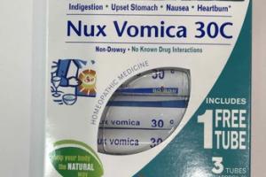 NUX VOMICA 30C HOMEOPATHIC MEDICINE