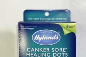 HOMEOPATHIC CANKER SORE HEALING DOTS RELIEF QUICK-DISSOLVING TABLETS