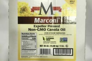 EXPELLER PRESSED NON-GMO CANOLA OIL