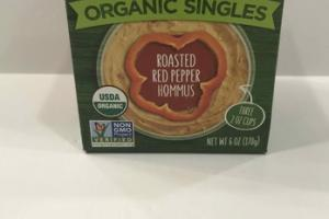 ROASTED RED PEPPER HOMMUS ORGANIC SINGLES