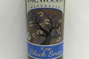 RAW BLACK SOAP WITH FAIR TRADE SHEA BUTTER, PEPPERMINT