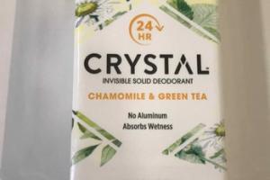 INVISIBLE SOLID DEODORANT, CHAMOMILE & GREEN TEA