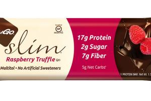 RASPBERRY TRUFFLE DIPPED IN REAL DARK CHOCOLATE PROTEIN BAR