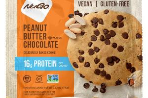 PEANUT BUTTER CHOCOLATE DELICIOUSLY BAKED PROTEIN COOKIE