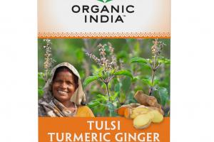 CAFFEINE FREE TULSI TURMERIC GINGER STRESS RELIEVING & HARMONIZING HERBAL SUPPLEMENT