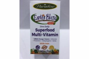 EARTHS BLEND ONE DAILY SUPERFOOD MULTI-VITAMIN DIETARY SUPPLEMENT VEGETARIAN CAPSULES