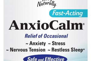 FAST-ACTING ANXIETY, STRESS, NERVOUS TENSION, RESTLESS SLEEP DIETARY SUPPLEMENT TABLETS