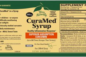 HEALTHY INFLAMMATION RESPONSE SUPERIOR ABSORPTION CURCUMIN 250MG DIETARY SUPPLEMENT SYRUP