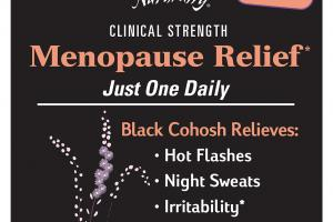 CLINICAL STRENGTH MENOPAUSE RELIEF DIETARY SUPPLEMENT CAPSULES
