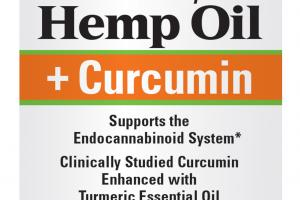 SUPPORTS THE ENDOCANNABINOID SYSTEM PREMIUM EUROPEAN HEMP OIL + CURCUMIN DIETARY SUPPLEMENT SOFTGELS