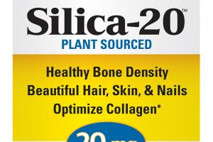 SILICA-20 PLANT SOURCED HEALTHY BONE DENSITY, BEAUTIFUL HAIR, SKIN, & NAILS, OPTIMIZE COLLAGEN 20 MG DIETARY SUPPLEMENT TABLETS