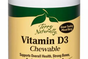 VITAMIN D3 5,000 IU MIXED BERRY CHEWABLE TABLETS DIETARY SUPPLEMENT