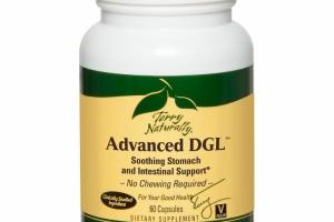 ADVANCED DGL SOOTHING STOMACH AND INTESTINAL SUPPORT DIETARY SUPPLEMENT VEGAN CAPSULES
