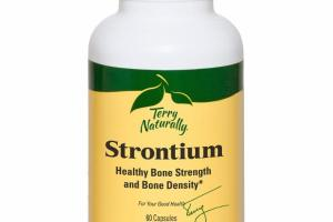 STRONTIUM HEALTHY BONE STRENGTH AND BONE DENSITY DIETARY SUPPLEMENT CAPSULES