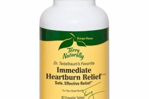 ORANGE IMMEDIATE HEARTBURN RELIEF CHEWABLE TABLETS DIETARY SUPPLEMENT