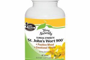 CLINICAL STRENGTH ST. JOHN'S WORT 900 DIETARY SUPPLEMENT TABLETS