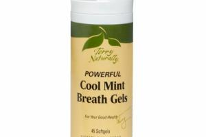 POWERFUL BREATH GELS DIETARY SUPPLEMENT, COOL MINT