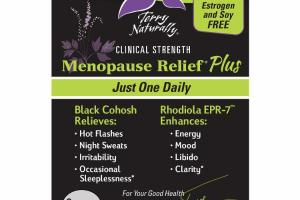CLINICAL STRENGTH MENOPAUSE RELIEF PLUS BLACK COHOSH, RHODIOLA EPR-7 DIETARY SUPPLEMENT CAPSULES