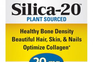 PLANT SOURCED SILICA-20 DIETARY SUPPLEMENT TABLETS
