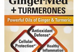 GINGERMED + TURMERONES ANTIOXIDANT DEFENSE, CELLULAR PROTECTION, HEALTHY INFLAMMATION RESPONSE DIETARY SUPPLEMENT SOFTGELS