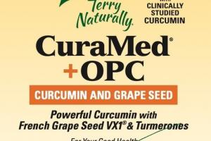 CURCUMIN AND GRAPE SEED CURAMED + OPC DIETARY SUPPLEMENT SOFTGELS