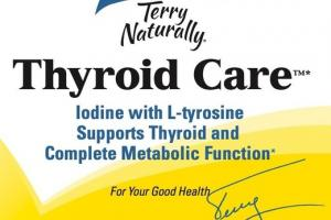 THYROID CARE IODINE WITH L-TYROSINE SUPPORTS THYROID AND COMPLETE METABOLIC FUNCTION DIETARY SUPPLEMENT CAPSULES