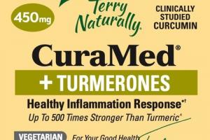 CURAMED + TURMERONES HEALTHY INFLAMMATION RESPONSE 450MG DIETARY SUPPLEMENT LIQUID V-CAPSULES