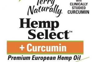 HEMP SELECT + CURCUMIN PREMIUM EUROPEAN HEMP OIL DIETARY SUPPLEMENT SOFTGELS