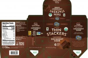 ORGANIC DECADENT DARK CHOCOLATE COVERED PUFFED GRAIN SNACKS