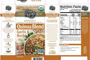 GARLIC & HERB QUINOA BLEND RICE & SEASONING MIX
