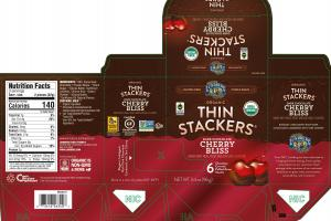 ORGANIC DARK CHOCOLATE CHERRY BLISS COVERED PUFFED GRAIN SNACKS