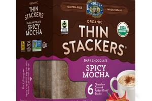 ORGANIC DARK CHOCOLATE SPICY MOCHA COVERED PUFFED GRAIN SNACKS